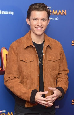 Gambar Jaket Kulit Suede Spiderman Tom Holland
