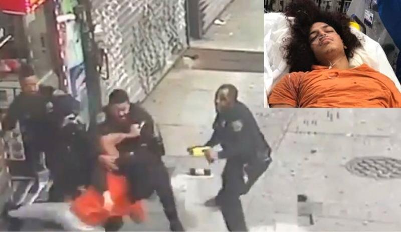 Atracador se enfrenta a cuatro policías en Brooklyn; le quita la Taser a uno, dispara a dos y huye