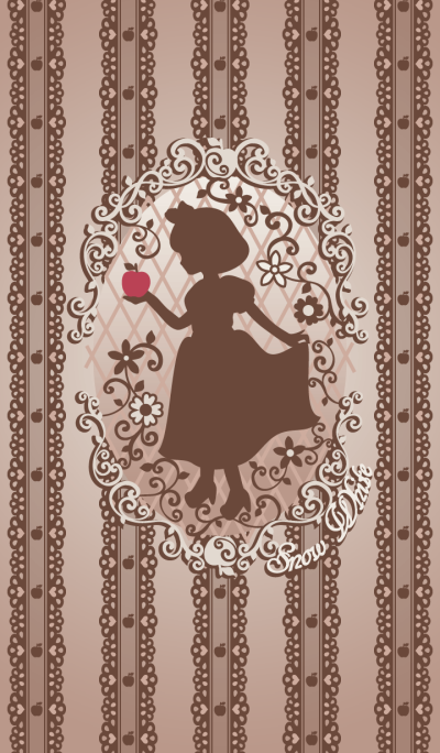 Snow White Silhouette Brown01