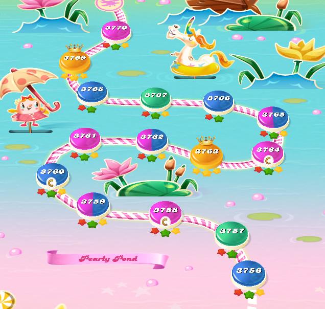 Candy Crush Saga level 3756-3770