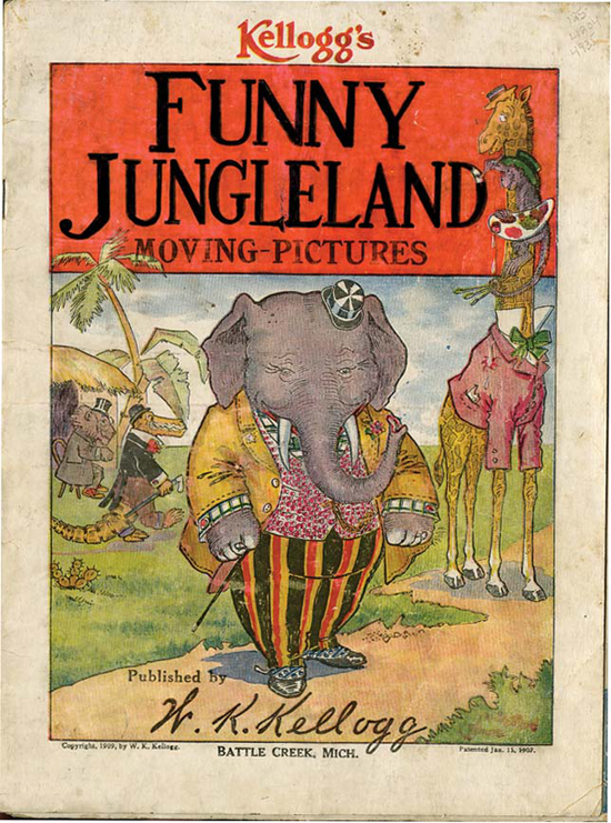 Kellogg's, Funny Jungleland Moving Pictures Booklet 1909