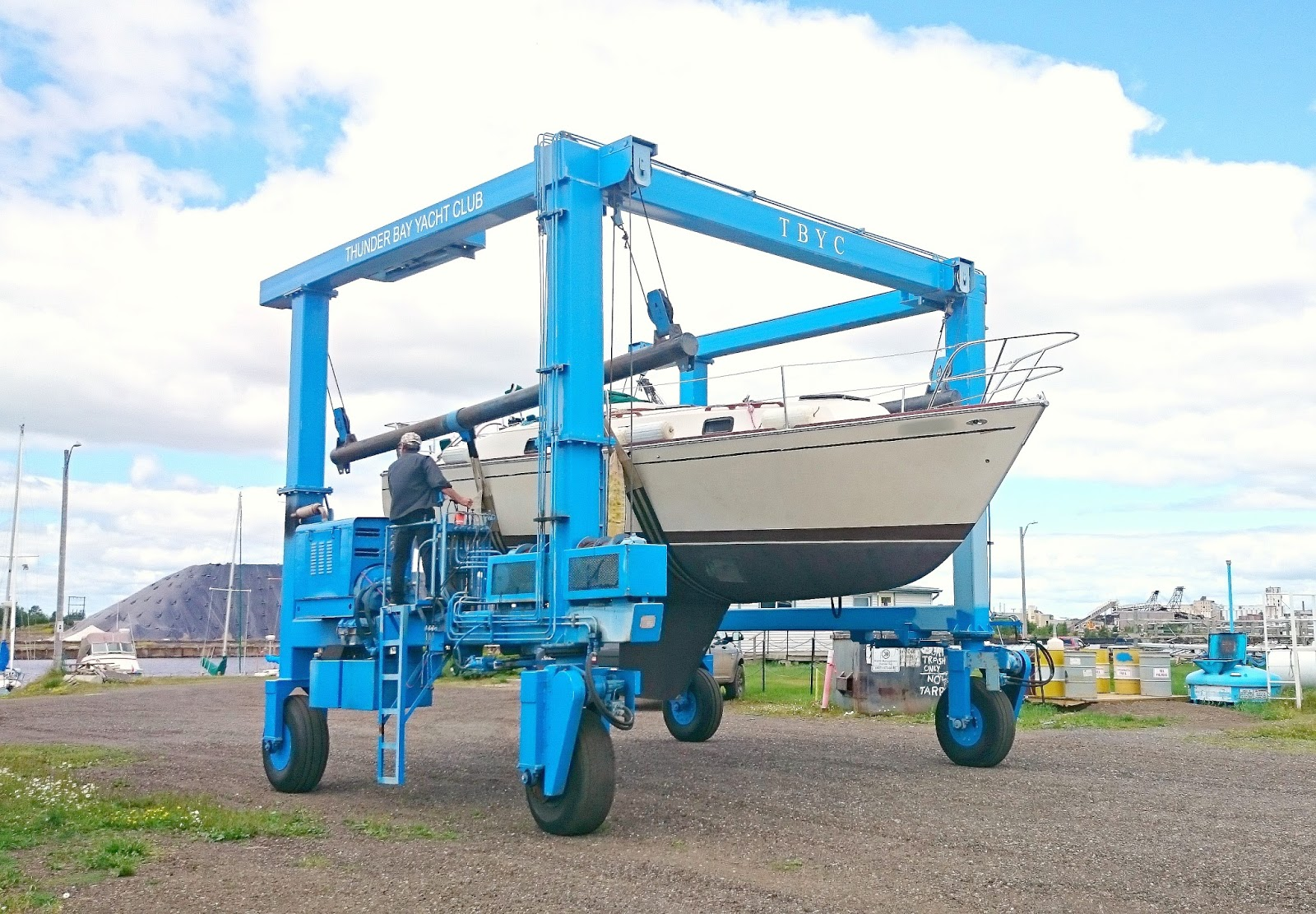Boat Travel Lift Crane