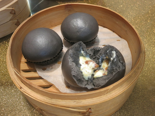 Steamed White Chocolate with Walnut Charcoal Bun