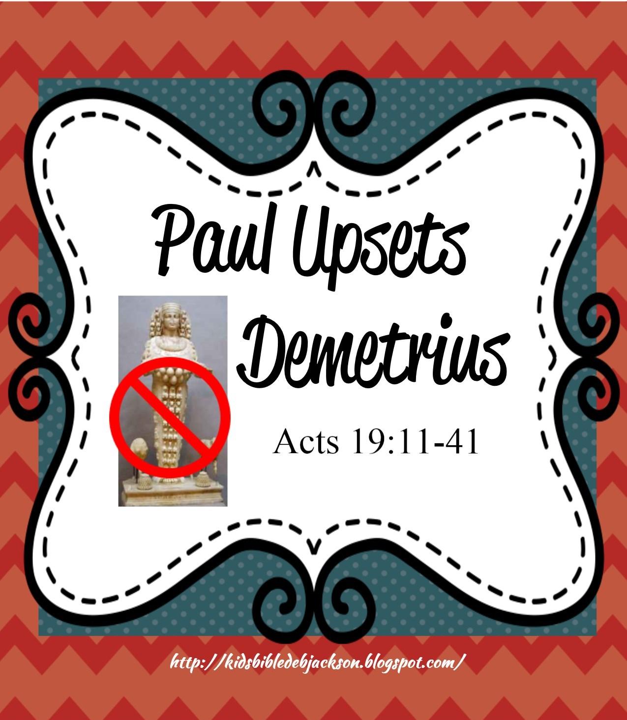Bible Fun For Kids Demetrius The Silversmith