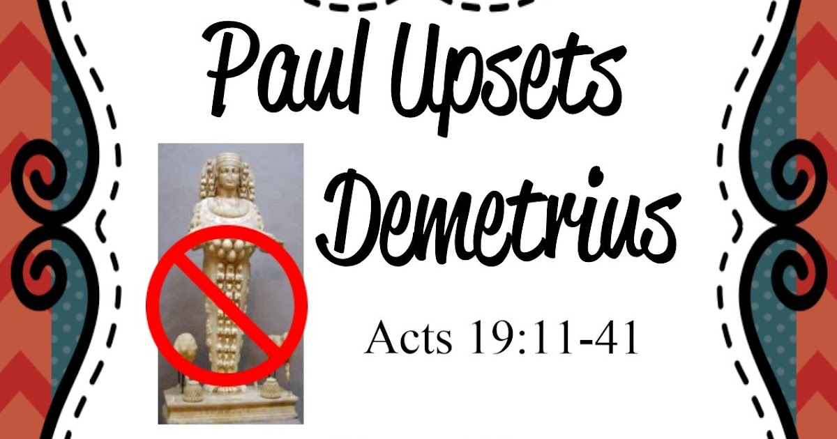 Bible Fun For Kids: Demetrius the Silversmith
