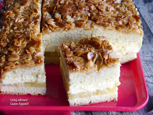 Binenstich mit Apfelfülung - Ciasto użądlenie pszczoły z nadzieniem jabłkowym - Czytaj więcej »