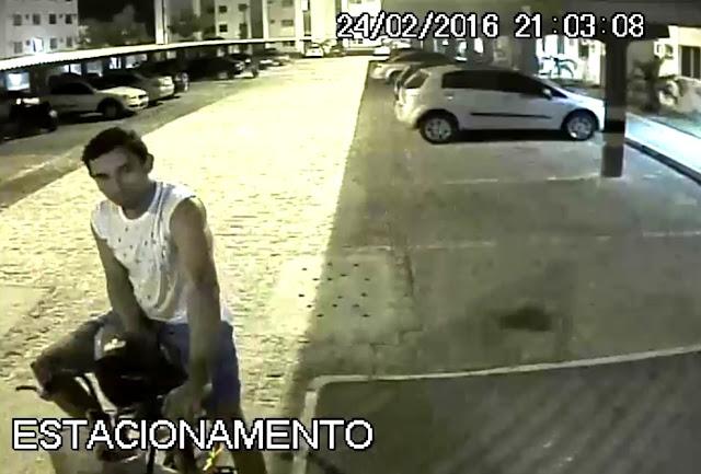 Câmeras flagram suspeito de roubo em Condomínios de Nossa Senhora do Socorro