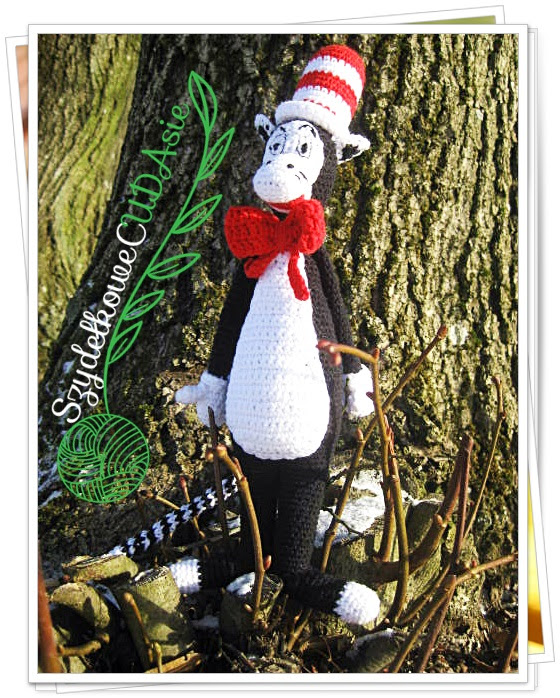 Kot Prot The Cat In The Hat Szydelkowecudasie