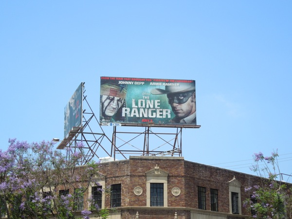Lone Ranger film billboard