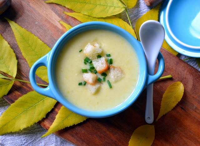 zupa-porowa Zupa porowa z grzankami