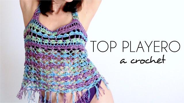 Cómo tejer un lindo top playero a crochet