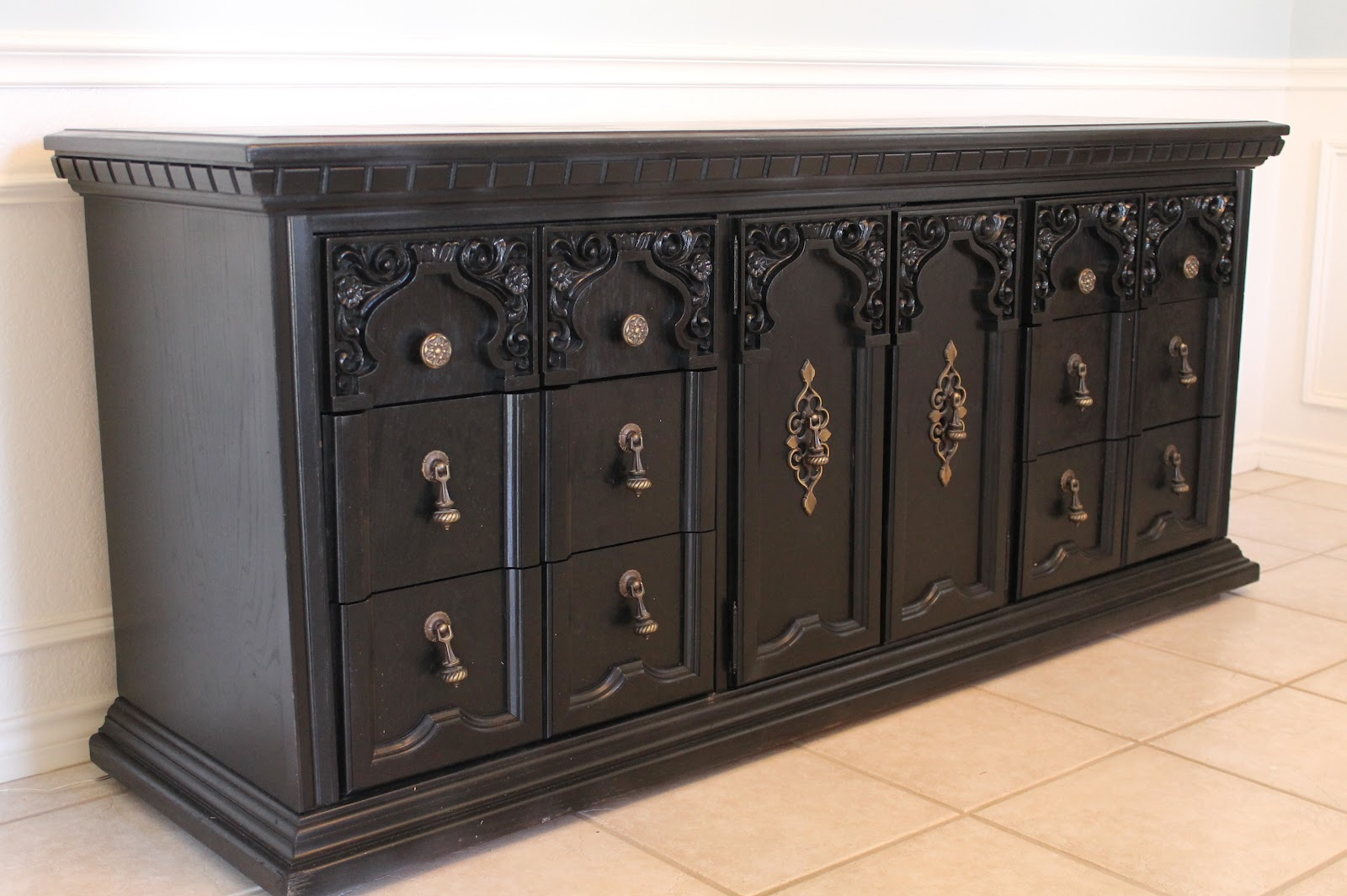 Lifes Sweeter with Chocolate Dining Room Buffet Table Free Find  Its finished