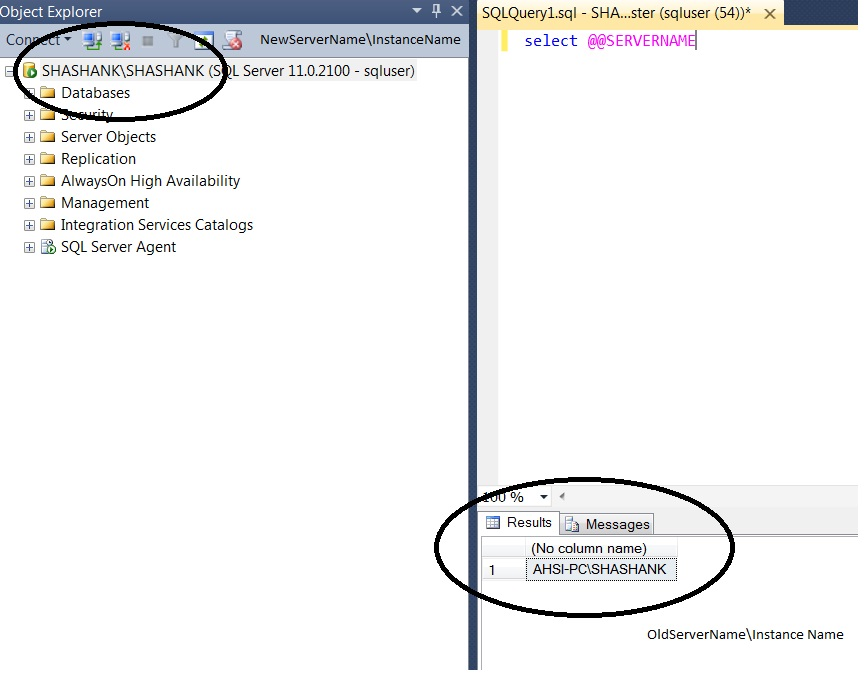 How to Change the SQL Server Name after Renaming the Windows