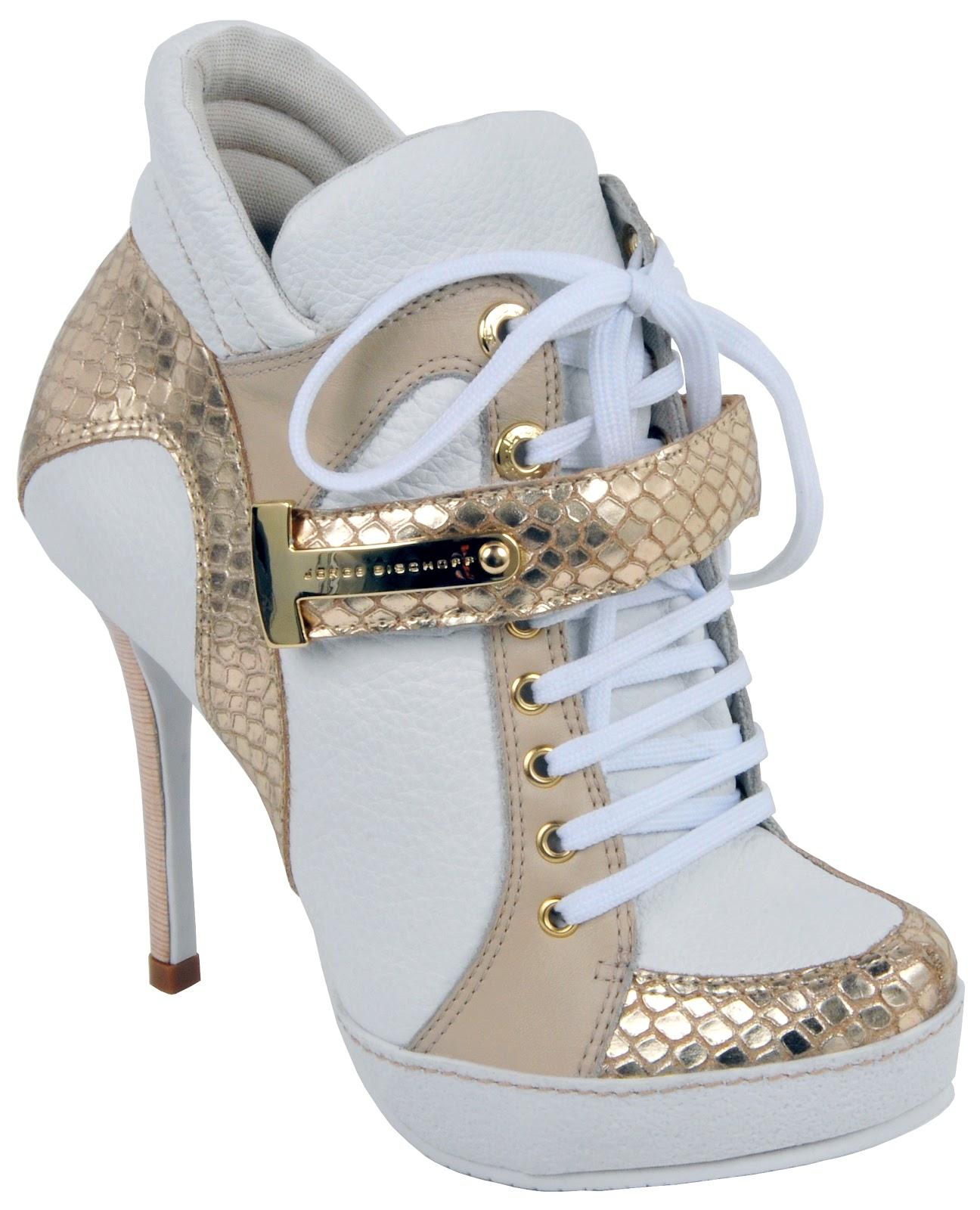 757d17426 Glam sneaker  tênis com salto alto fino é novidade da Jorge Bischoff ...