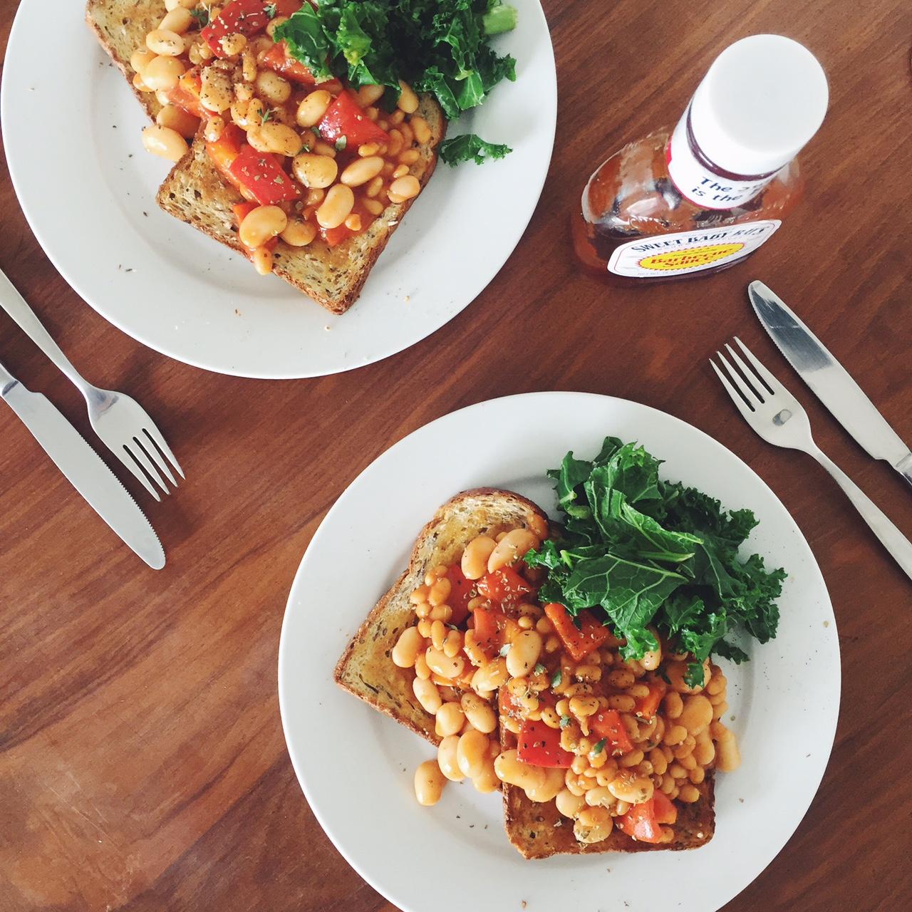 Posh beans on toast