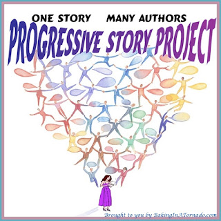 Progressive Story Project, one piece of fiction written by a group of bloggers, each contributing to but not controlling the story | Presented by www.BakingInATornado.com | #blogging #collaboration #MyGraphics