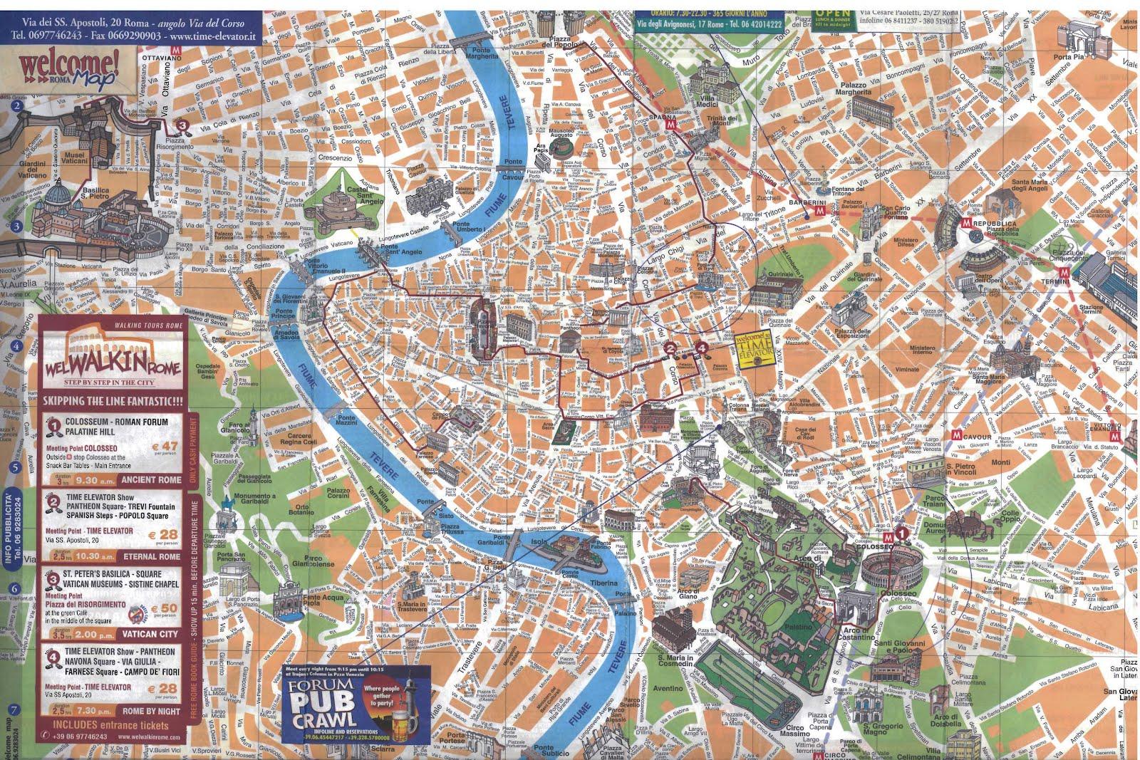 mapa turistico roma Mapa Turístico Roma mapa turistico roma