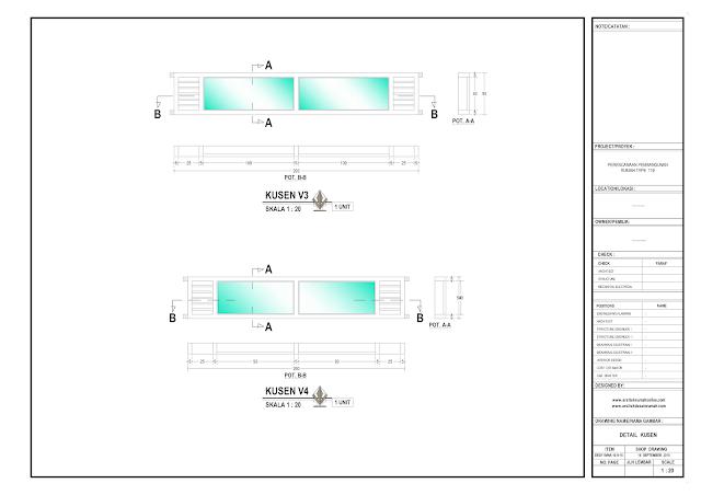 Detail Kosen Rumah Lantai 1 Type V3 dan V4