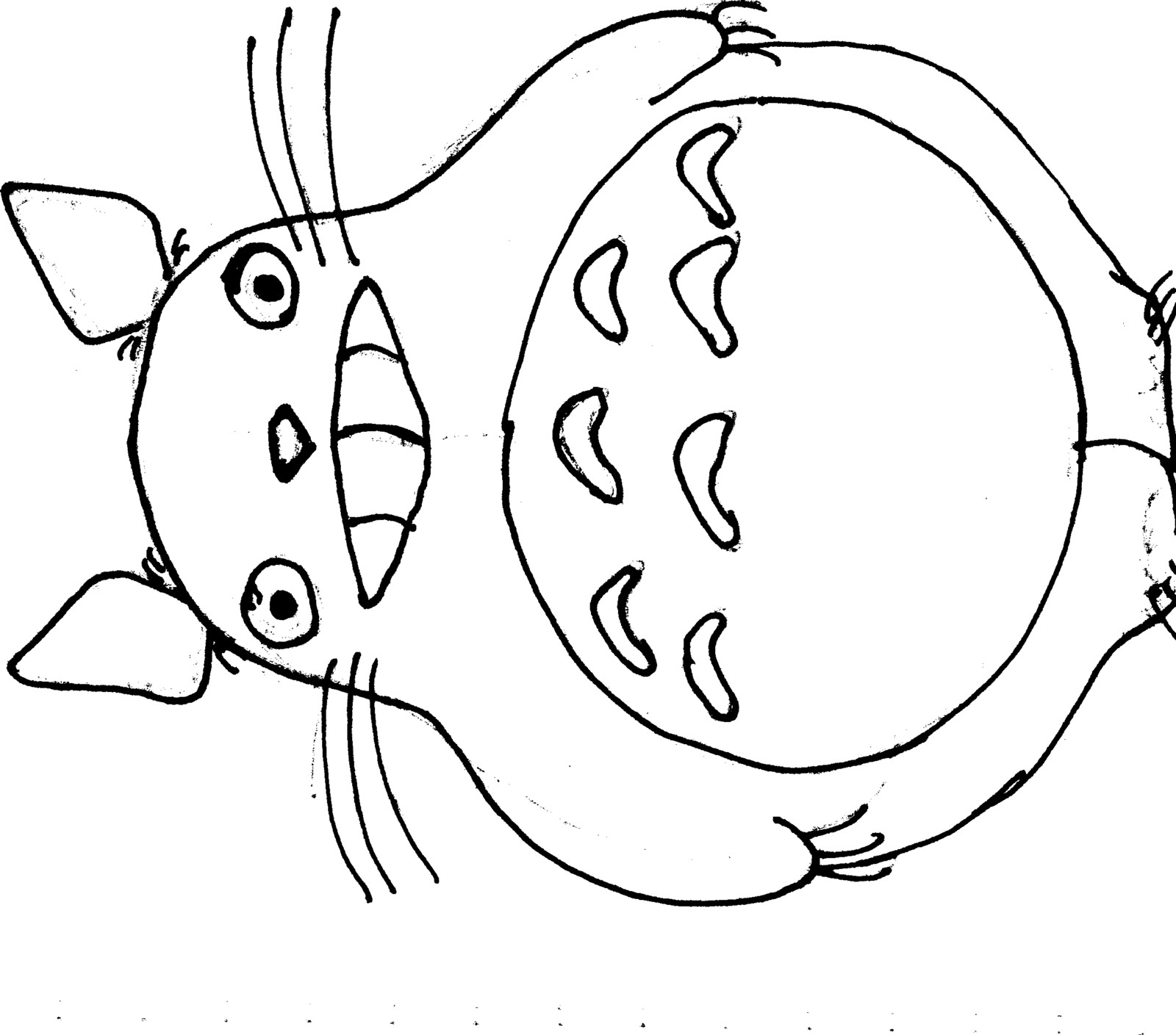 Totoro, My neighbor totoro and Coloring pages on Pinterest