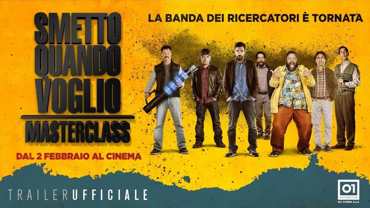 Colonna Sonora SMETTO QUANDO VOGLIO - MASTERCLASS | Canzone finale, titoli di coda e trailer