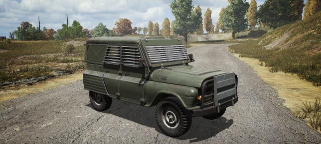 Mobil armored UAZ flare gun pubg mobile