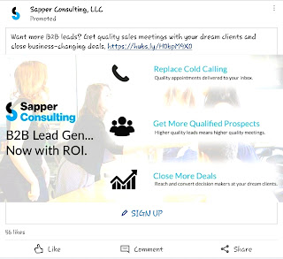 Sponsored LinkedIn ad as a promotional method