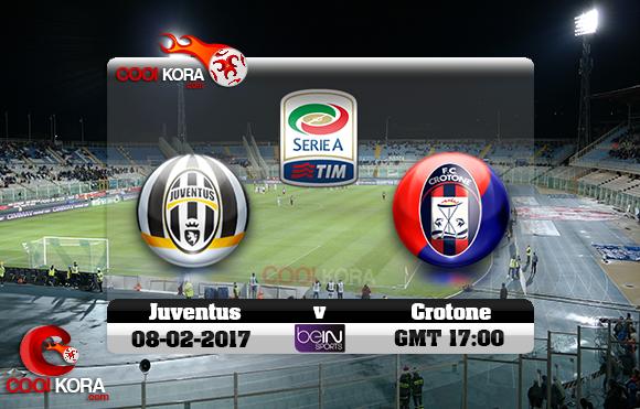 مشاهدة مباراة كروتوني ويوفنتوس اليوم 8-2-2017 في الدوري الإيطالي