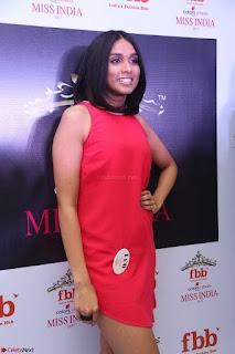 Spatika Surapaneni in Red Tight Dress at FBB Miss India 2017 finalists at Telangana auditions Feb 2017 (5).JPG