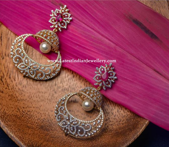 Chandbali Jhumka Fusion Earrings
