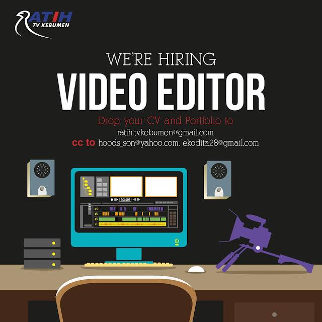 Lowongan Video Editor Ratih TV