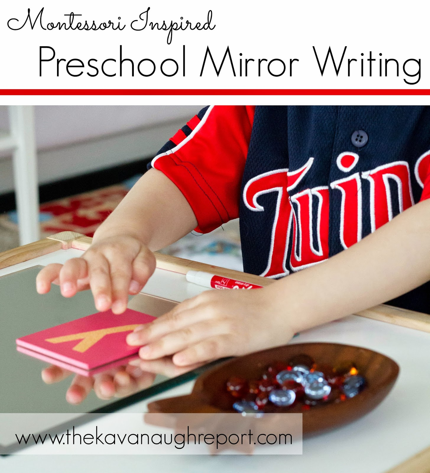 Montessori Inspired Preschool Mirror Writing