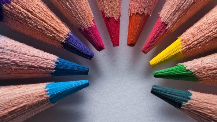 Wallpaper 2: Red Green Blue RGB. Color Pencils