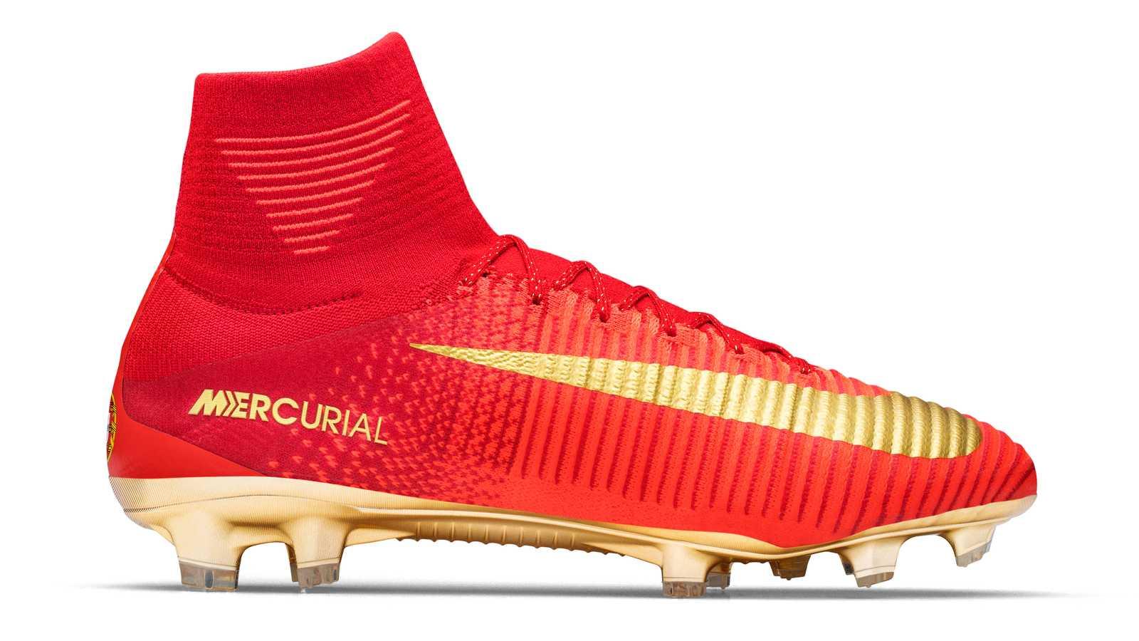 Orange Nike Football Shoes