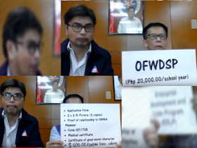 Newly appointed OWWA Deputy Administrator Arnel Arevalo Ignacio together with Administrator Hans Leo Cacdac started to openly communicate with the OFWs as part of their effort to know the real sentiments and problems of the Overseas Filipino Workers (OFWs). Ignacio being an OFW said that he can understands the OFWs better.  Both OWWA officers gladly accommodated the queries from the OFWs. However, DA Ignacio advised them to ask their office or any concerned office such as POLO-OWWA directly and not to seek advice from their peers if they want correct actions.  Sponsored Links  Aside from answering the questions from OFWs, they also provided contact numbers and informations that the OFWs can use should they have any concerns. They also explained OWWA programs which can be helpful for the OFWs such as EDLP or the Enterprise Development and Loan Program.    For the EDLP, the requirements are:  —Application form  —Certificate of Enhanced Entrepreneurial Development Training or EEDT  —Business plan  —Proof of repatriation or return to the Philippines    For more detailed information about this program , read:   Enterprise Development and Loan Program - OFW LOAN OF UP TO 2 MILLION PESOS    Or watch the video here.    As for the many requirements, Admin Cacdac advised the group borrowers to tie up with a person who can provide a collateral to further aid them for the approval of their loan. With regards to lengthy process and numbers of requirements, Admin Cacdac disclosed that there may be a possibility of a collateral-free loan program for the OFWs in the future through the newly launched OFW Bank. He did not elaborate further but he mentioned that there will be requirements in availing the loan.      OWWA Rebate    Administrator Cacdac mentioned that the release of OWWA rebate for OFWS who had been members of OWWA and never had availed or claimed any OWWA programs and benefits is expected on the first quarter of this year.     As to the proximity of OWWA regional offices which OFW members find very far, OWWA is planning to put provincial offices which can possibly happen starting this year, according to Admin Hans Cacdac.        OFWDSP  OFW Dependents Scholarship Program (OFWDSP) - Scholarships consisting of a maximum of Php 20,000.00 assistance per school year leading to a bachelors or associate degree in a state college or university.  To avail this, OFW parents must have a basic monthly salary of not more than US$600.00. Requirements: —Application form —2x2 ID picture (2 copies) —Proof of relationship to OWWA member —Form 137/Transcript of records —Certificate of good moral character   EDSP Requirements: —Application form — 2 copies of 2x2 ID photos —PSA-Authentcated Birth Certificate —TOR/Form 137 —Certification of General weighed average of 80% and belongs to top 20 of the graduating class from the principal —certificate of good moral character  To learn more about OWWA benefits, requirements and how to avail it, click HERE.  DA Arnel Ignacio appeal to the OFWs to save their anger and rants in approaching OWWA to help resolve their issues and concerns because there is nobody at OWWA that does not want to help the OFWs. Understanding is important for harmonious relationship between OWWA and its members.  READ MORE: Popular Pinoy Stores In Canada  10 Reasons Why Filipinos Love Canada  Comparison Of Savings  Account In The Philippines:  Initial Deposit, Maintaining  Balance And Interest Rates  Per Annum  Mortgage Loan: What You Need To Know  Passport on Wheels (POW) of DFA Starts With 4 Buses To Process 2000 Applicants Daily    Did You Apply for OFW ID and Did You Receive This Email?      Jobs Abroad Bound For Korea For As Much As P60k Salary  Command Center For OFWs To Be Established Soon   ©2018 THOUGHTSKOTO  www.jbsolis.com   SEARCH JBSOLIS, TYPE KEYWORDS and TITLE OF ARTICLE at the box below