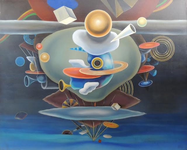 José Canes Solé pintura naíf trompetas