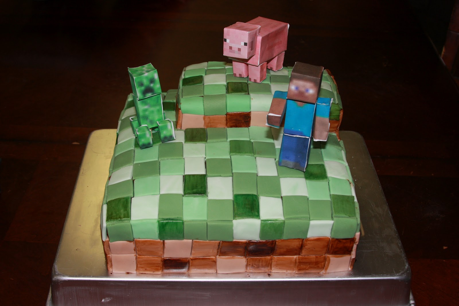 Heathers Sweet Cakes Quot Minecraft Quot Cake For Damians 10th