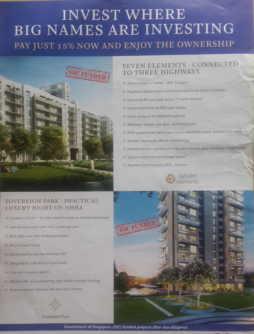 New Launch Project Vatika Group Housing Apartments, Seven Elements, Sector-89A, Gurgaon (Gurugram)