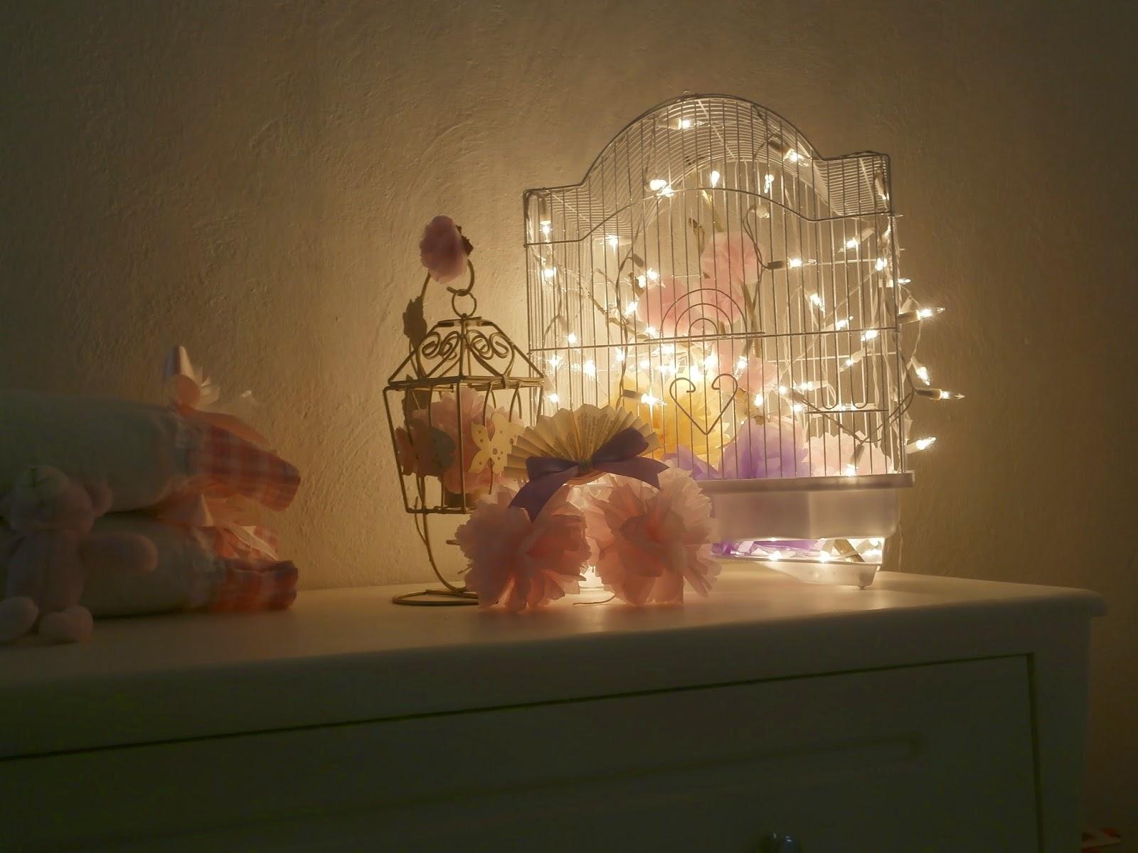Anita de rojas detallitos diy jaula con luces deco de for Tablero del deco del sitio del bebe