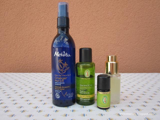 Aloe Vera Öl und Orangenblütenwasser