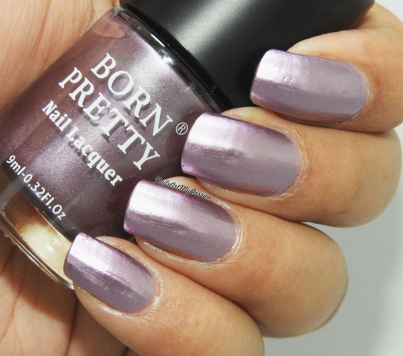 Born Pretty Metallic B505 Heroine Is A Very Light Purple Or Lavender Polish The Shade Almost Opaque In One Coat