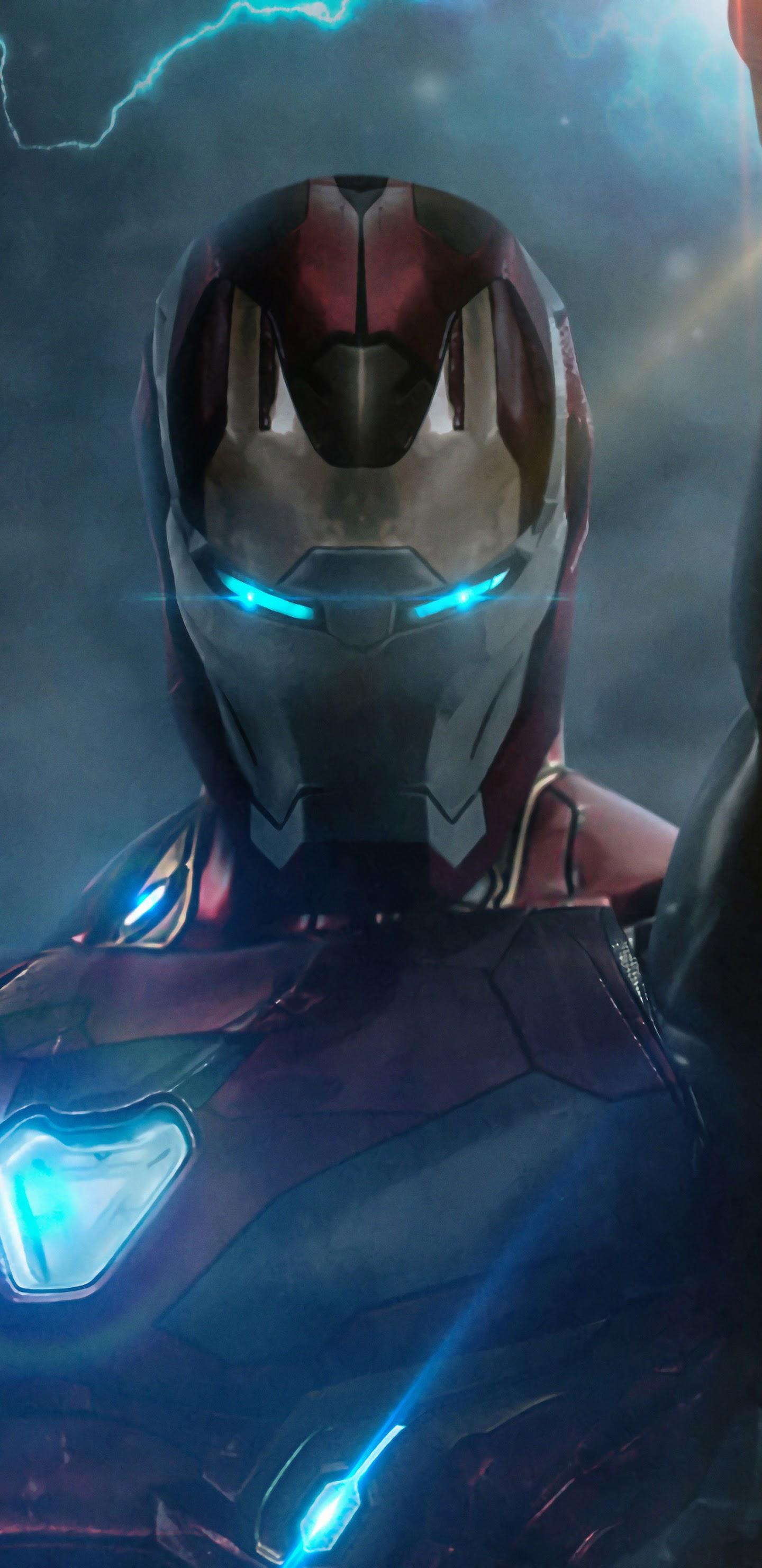 Iron Man Infinity Stones Avengers: Endgame 4K Wallpaper #21