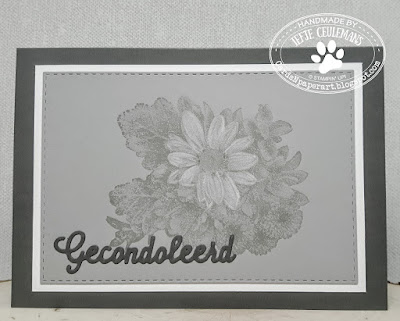 Sympathy card with Heartfelt Blooms from Stampin' Up SAB 2018