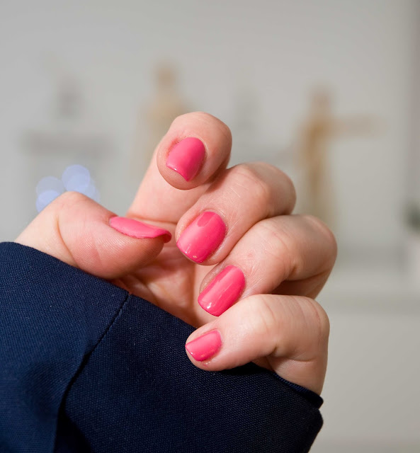 klasyczny lakier do paznokci Semilac 007 Pink Rock