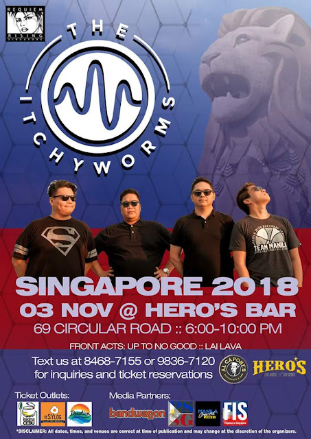 The Itchyworms in Singapore this November 2018.