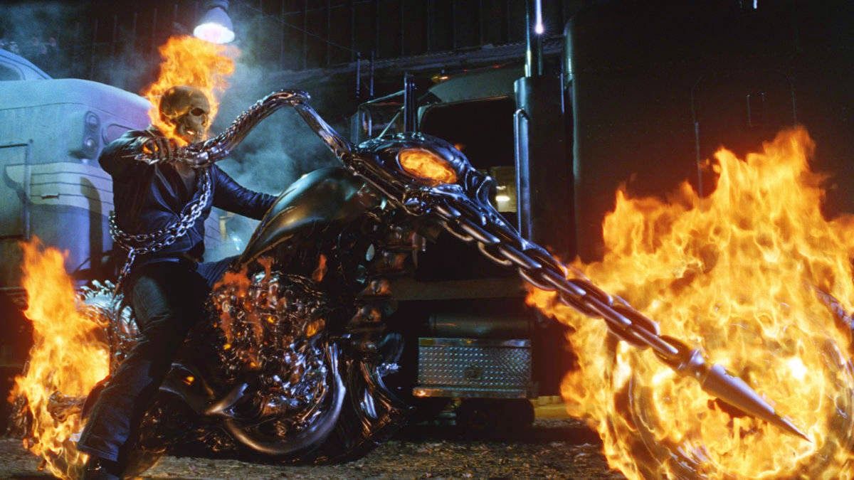 Wallpapers Ghost Rider 2 - Ghost Rider Bike Wallpaper 3d