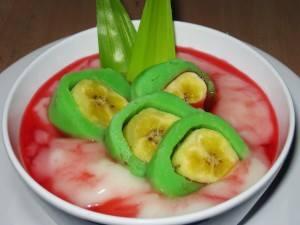 cara membuat es pisang hijau