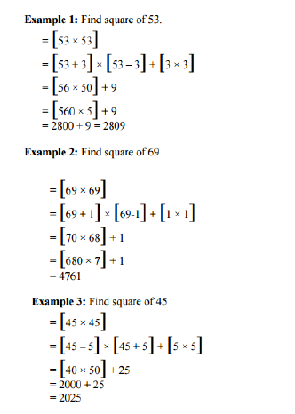 Square of Number, Tips and Tricks For CAT, SSC and Bank Exams
