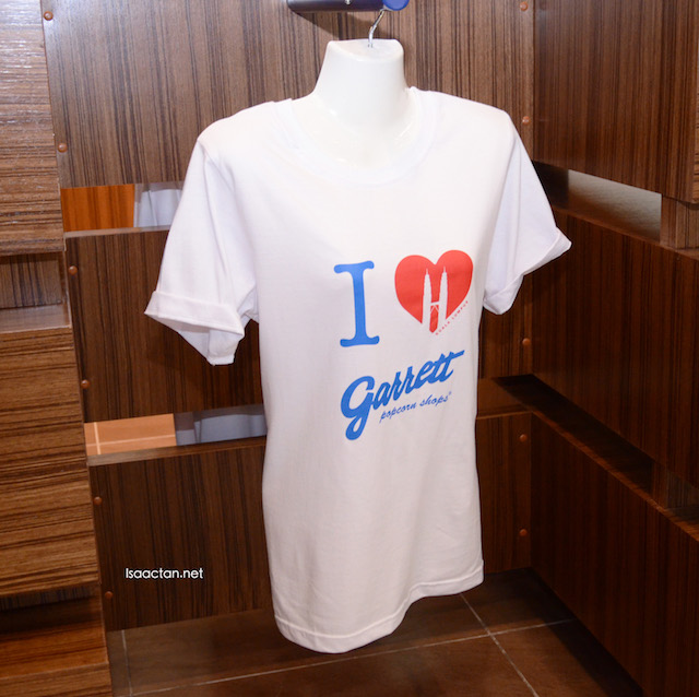 Garrett T Shirts are sold at RM49 each