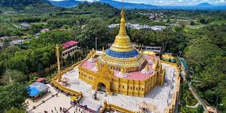 Destinasi Wisata Religi Pagoda Taman Alam Lumbini Punya Power Spot Foto Menarik