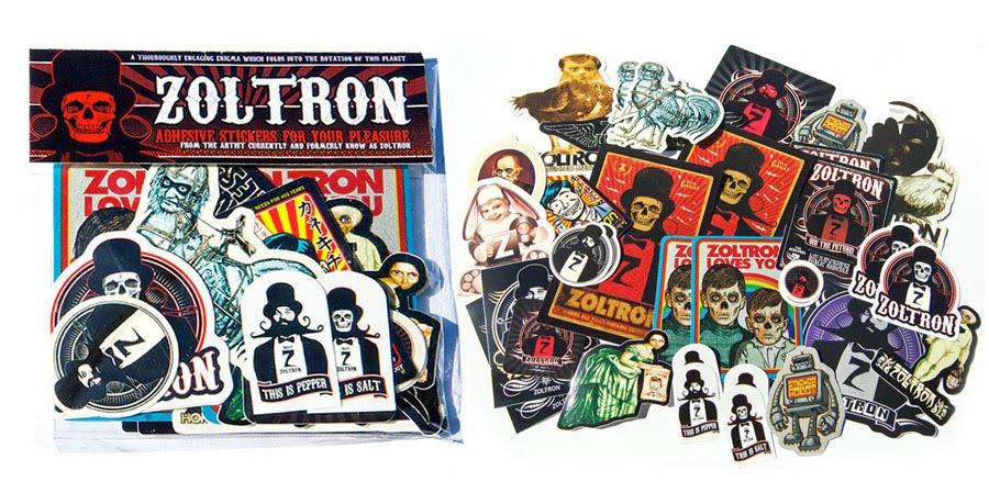 Zoltron sticker packs on sale